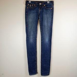 True Religion sz 26 Julie distressed skinny jeans